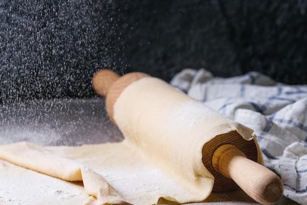Fresh homemade dough for pasta