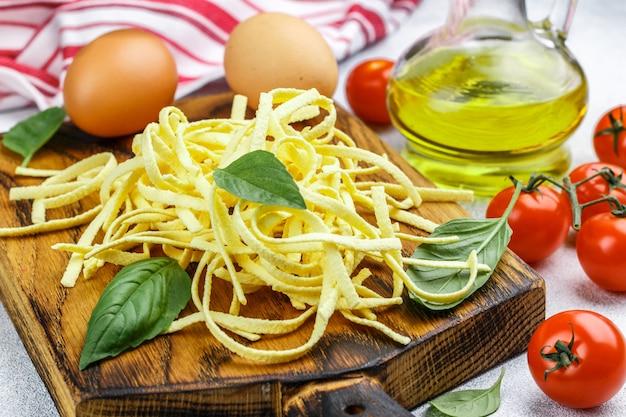 Fresh homemade egg pasta