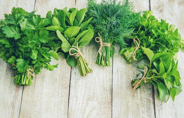 Fresh homemade greens from the garden.