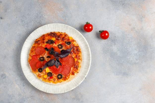 신선한 홈 메이드 미니 피자.