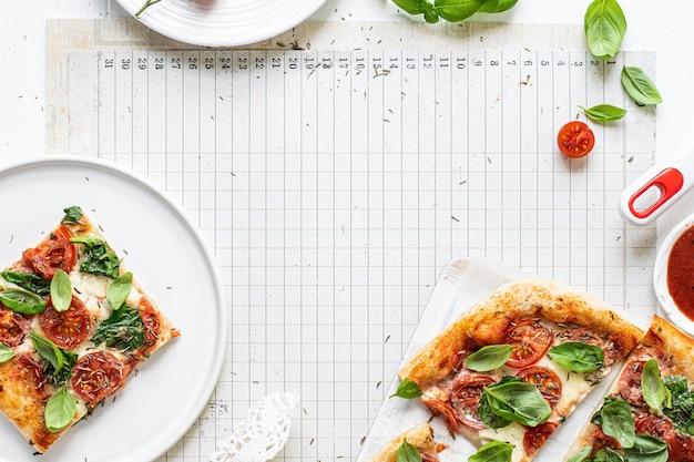 新鮮な自家製ピザのレシピのアイデア
