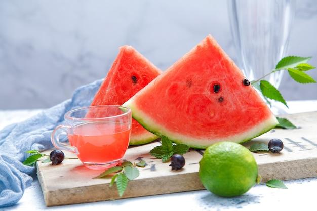 Fresh ice watermelon