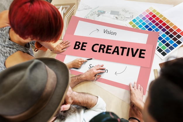 Fresh ideas creative thinking concept