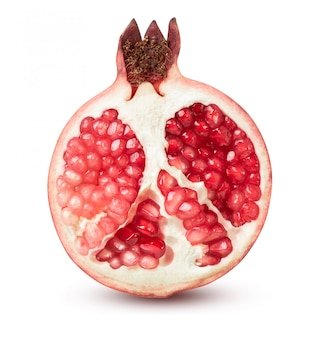 Fresh india pomegranate isolated on the white background with clipping path