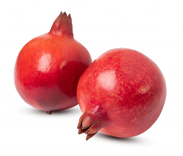Fresh india pomegranate isolated