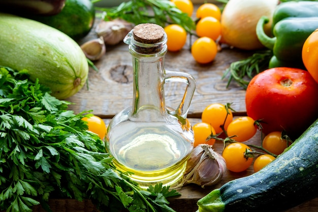 Свежие ингредиенты для рататуя