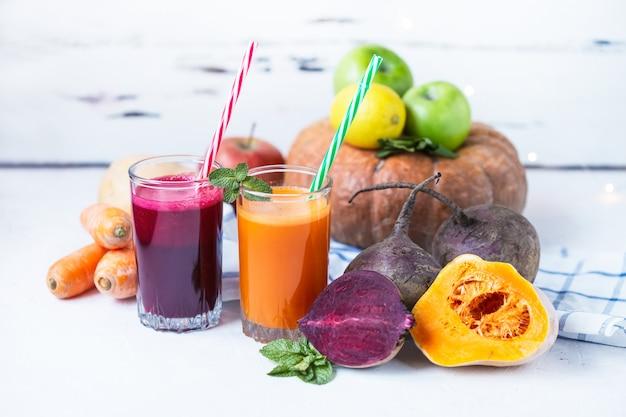 Fresh juice from homemade vegetables