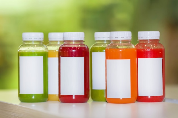 Fresh juice mix fruit and vegetables, healthy drinks
