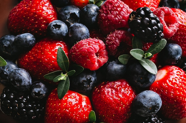 Fresh and juicy forest berries