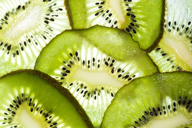 Fresh kiwi fruit sliced background