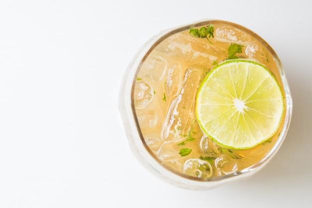 Fresh lemon soda white water