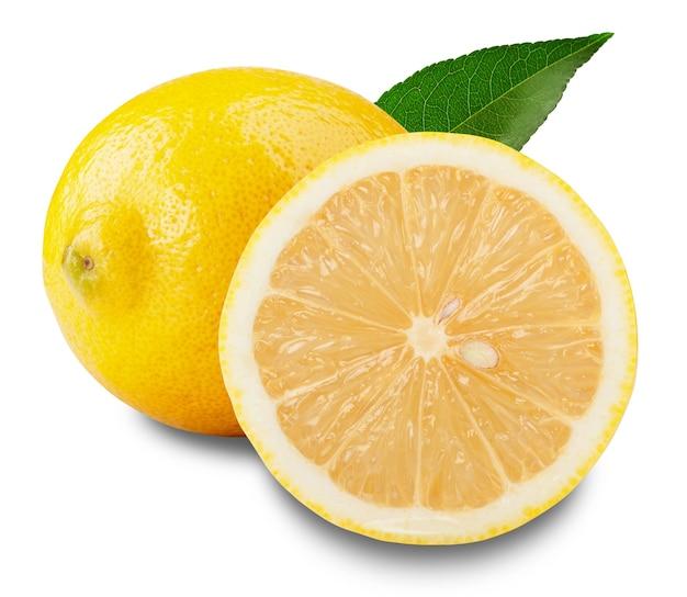 Fresh lemons isolated on white
