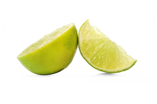 Fresh lime fruit isolated