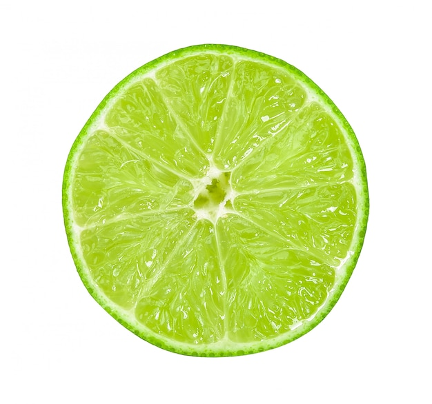 Fresh lime isolated on white clipping path
