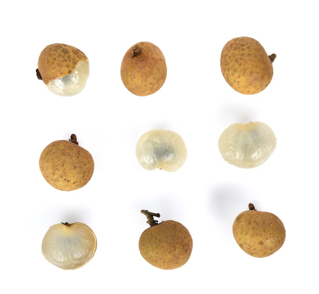Fresh longan on the background ,top view