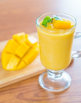 Fresh mango smoothie