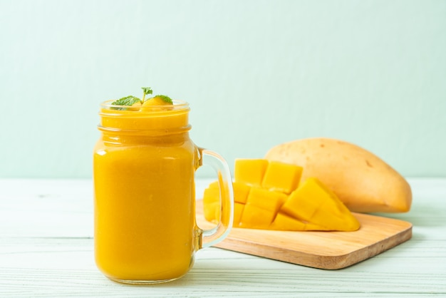 Fresh mango smoothies