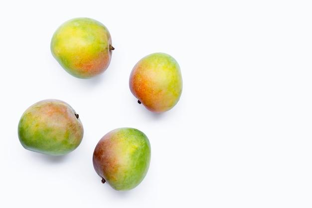 Fresh mango on white background.