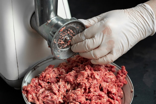 Fresh meat raw minced ground meat