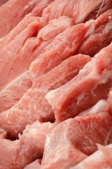 Текстура свежего мяса крупным планом