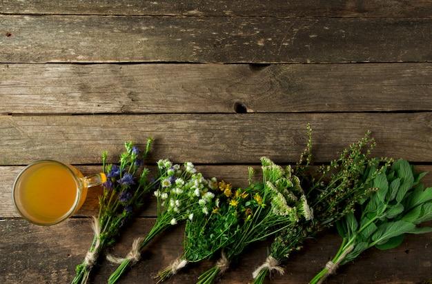新鮮な薬草。薬草