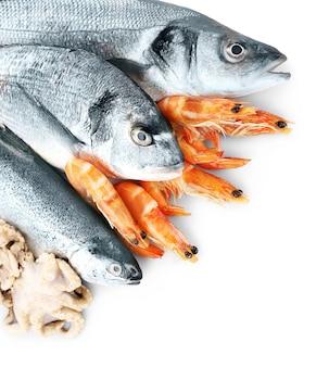 魚のフレッシュ地中海カクテル Premium写真