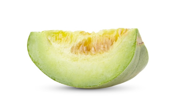 Fresh melon isolated on white background