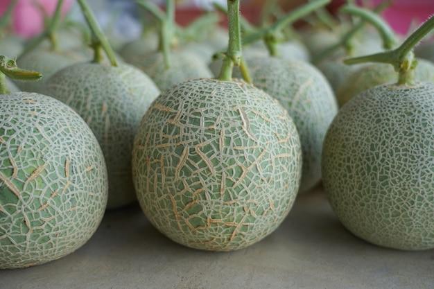 有機農場から生産される新鮮なメロン