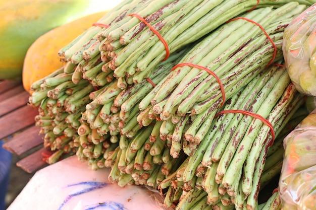 Fresh moringa in market