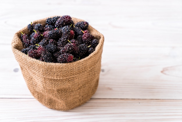 Fresh mulberry bowl