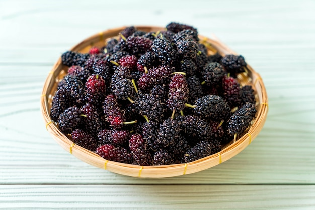 Fresh mulberry bowl