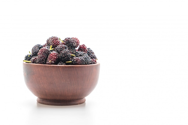 Fresh mulberry isolated