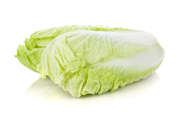 Fresh napa (chinese) cabbage isolated on white