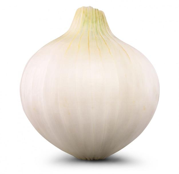Fresh onion isolated on white