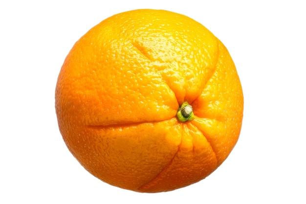 分離された新鮮なオレンジ色の果実