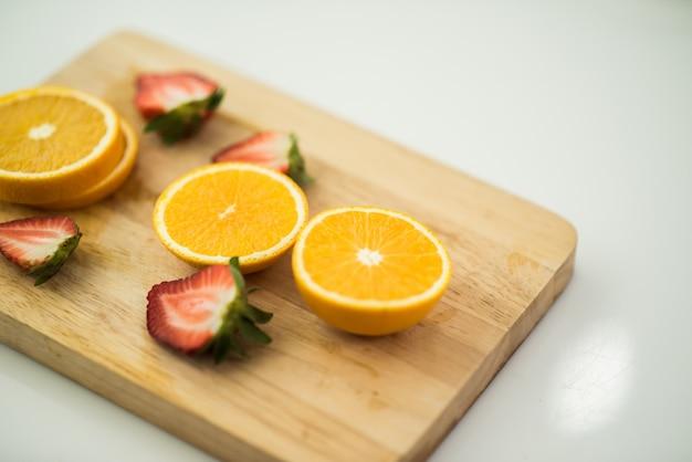 Fresh orange fruit slice