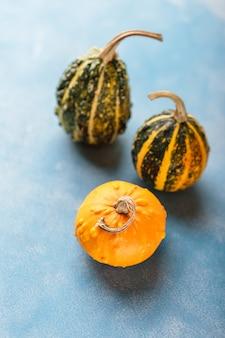 新鮮なオレンジ色の小さなカボチャ