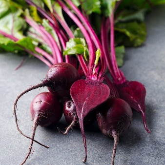 Fresh organic beet, beetroot. close up.