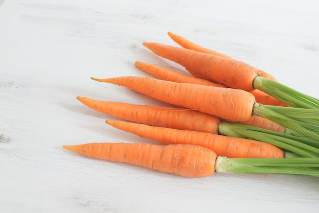 Fresh organic carrot wooden box wooden  clean eating harvesting  local market country style