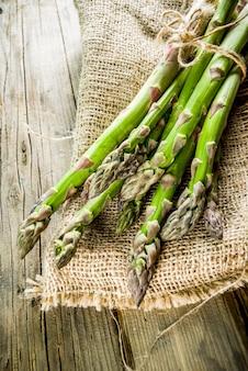 Fresh organic farm asparagus