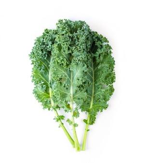 Fresh organic green kale leaves