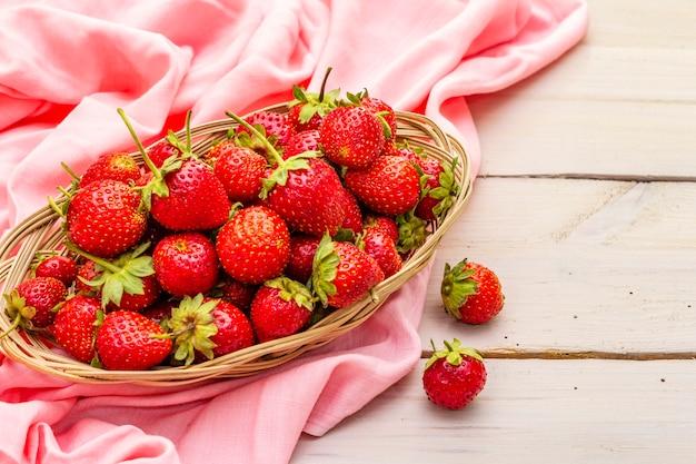 Fresh organic ripe strawberry