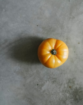Fresh organic yellow heirloom tomato