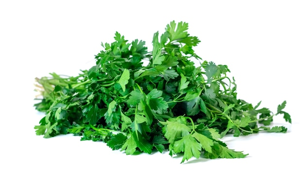 Fresh parsley isolated on white background. vegetable. healthy food.