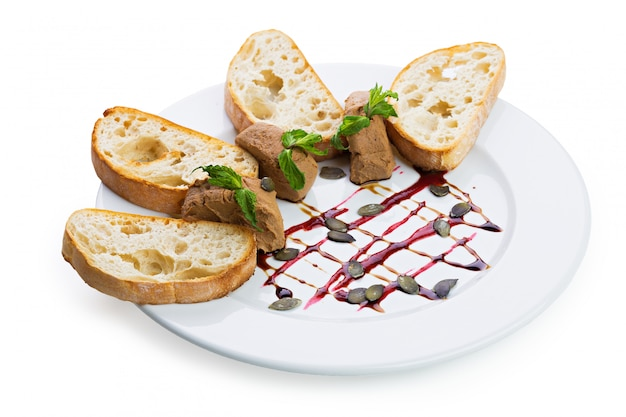 Fresh pate with bread