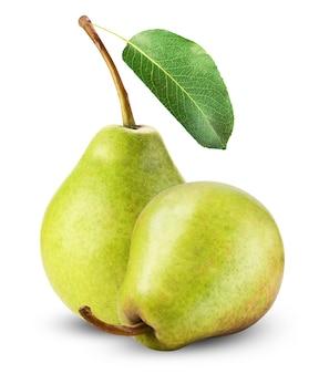 白で隔離される新鮮な梨