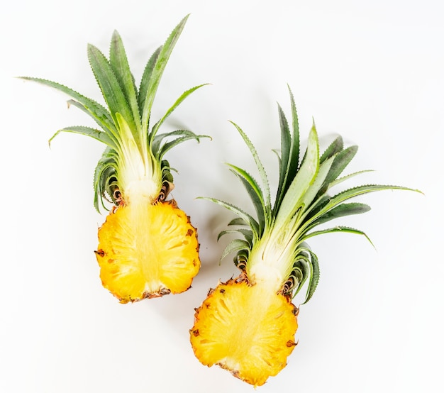 Fresh pineapple isolated on white