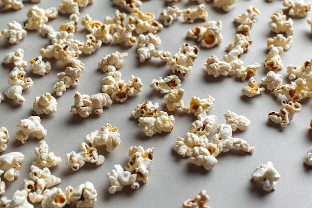 Fresh popcorn, food background