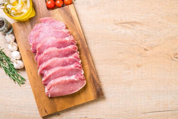 Fresh pork raw fillet