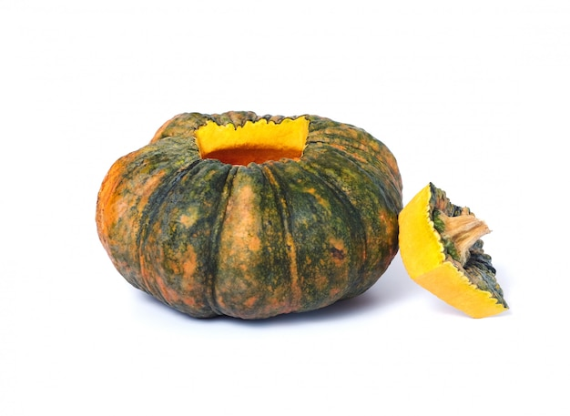 Fresh pumpkin food is cored and seeds removed